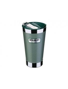 Vaccum Pint  0,473 Liter Hammerschlag grün