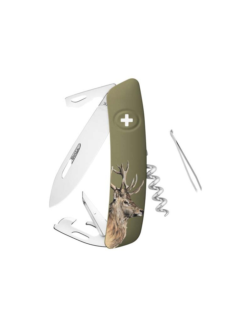 Schweizer Taschenmesser mit Hirschmotiv