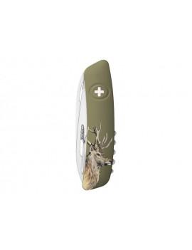 Schweizer Taschenmesser mit Hirschmotiv - geschlossen