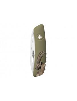 Schweizer Taschenmesser geschlossen mit  Motiv auf der Griffschale