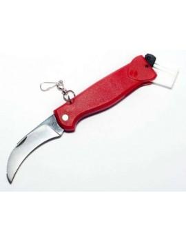 Pilzmesser mit roten Griff