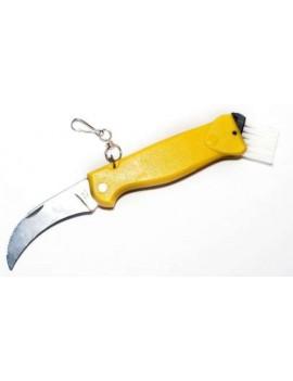 Pilzmesser mit gelbem Griff