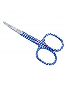 Baby-Nagelschere blau, abgerundet, rostfrei, gebogen, 9.0 cm